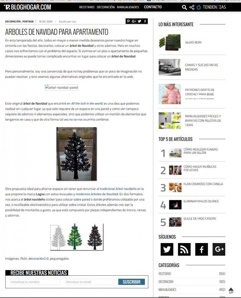 bloghogar.com apariciones en prensa de lagoa