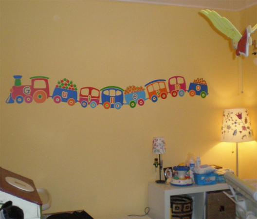 trenes decoracion infantil