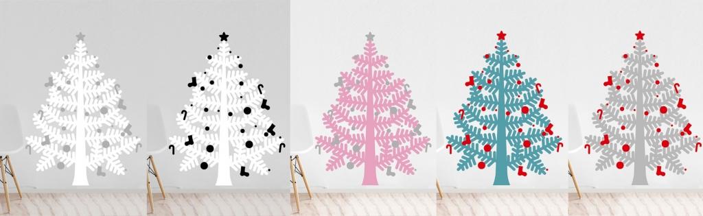 Arbol navidad en sticker gigante, elige color y no ocupes espacio