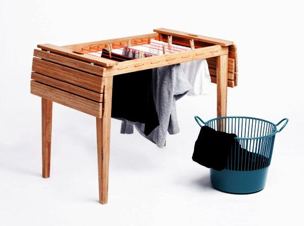 Diseños Ingeniosos Mesa Convertible En Tendedero Lagoa