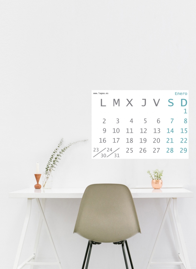 calendario descargable de diseño