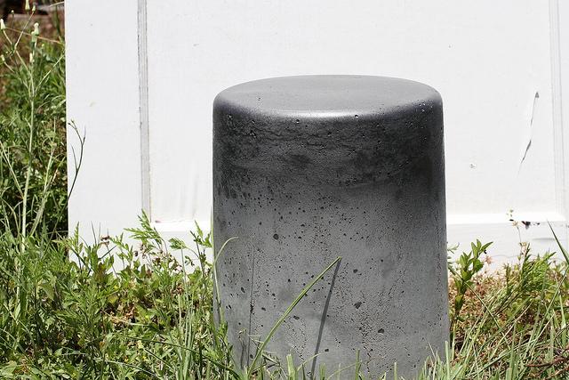 muebles de exterior de cemento