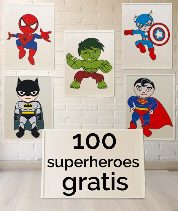 laminas superheroes infantiles