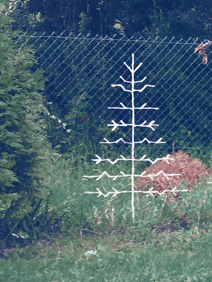 decor garden crochet pines