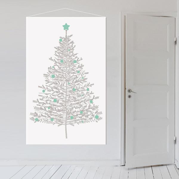 christmas tree print