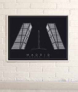 Dibujos de Madrid Torres Kio