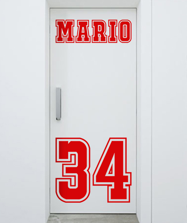 teen room door decal