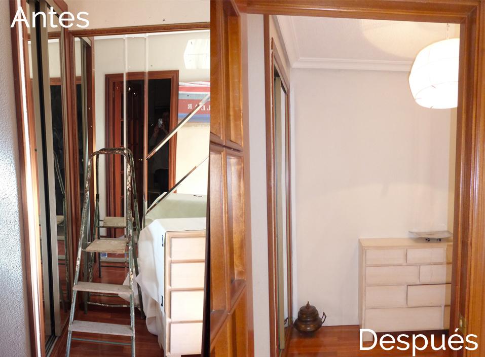 tapar espejo de obra en tu casa de alquiler,antes y despues