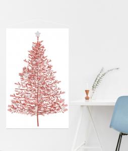 arbol navidad color rojo