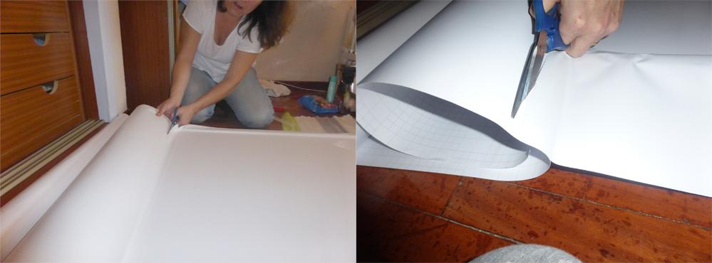 DIY lacado blanco con vinilo