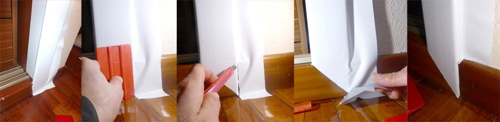 DIY como forrar puertas con vinilo para conseguir acabado lacado