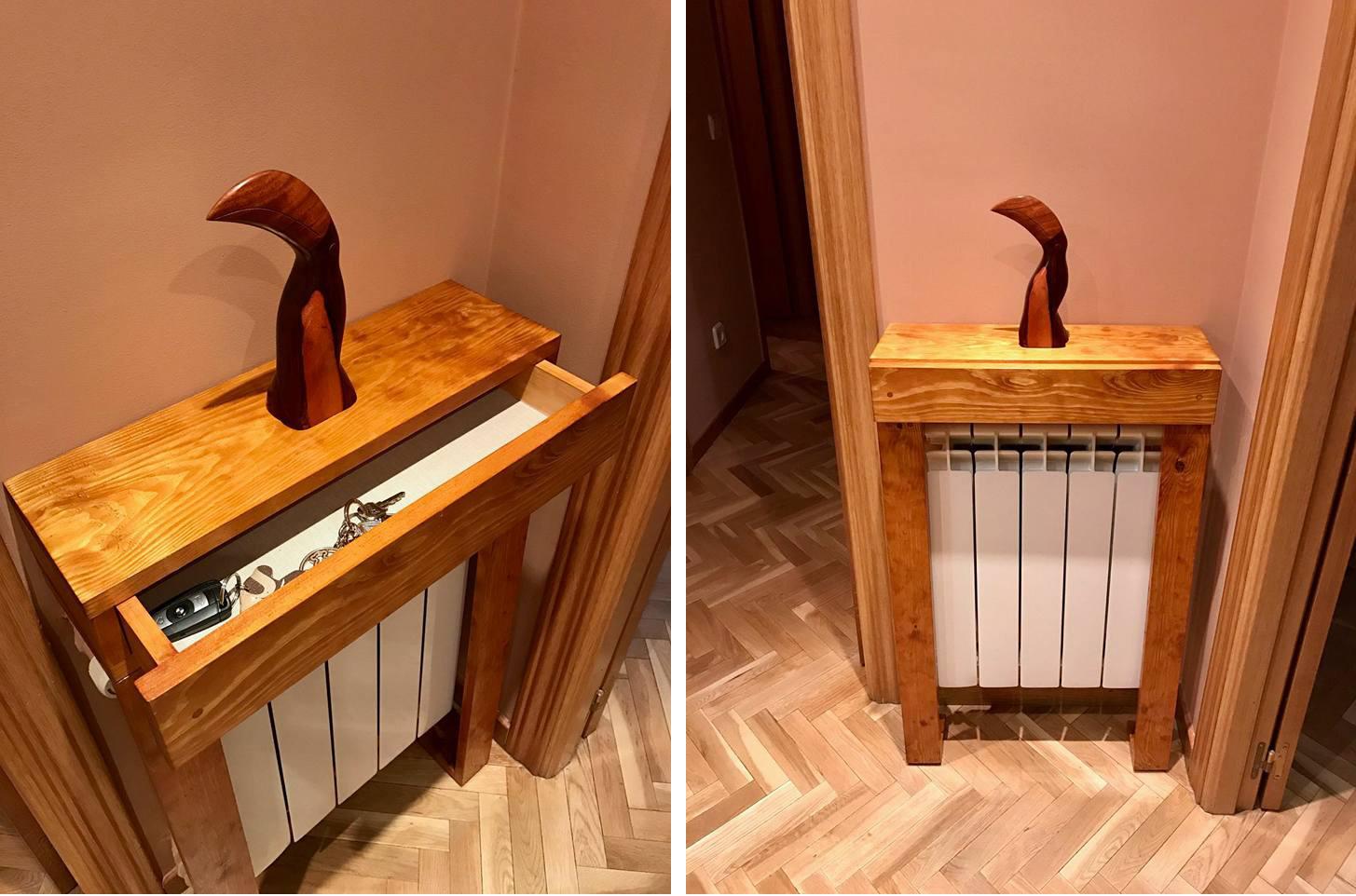 mueble radiador moderno con cajon