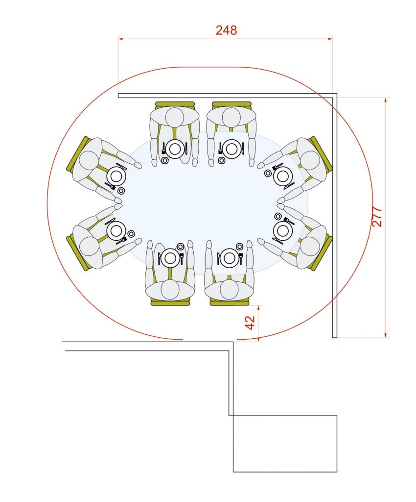decoracion casas pequeñas medidas para mesa de comedor