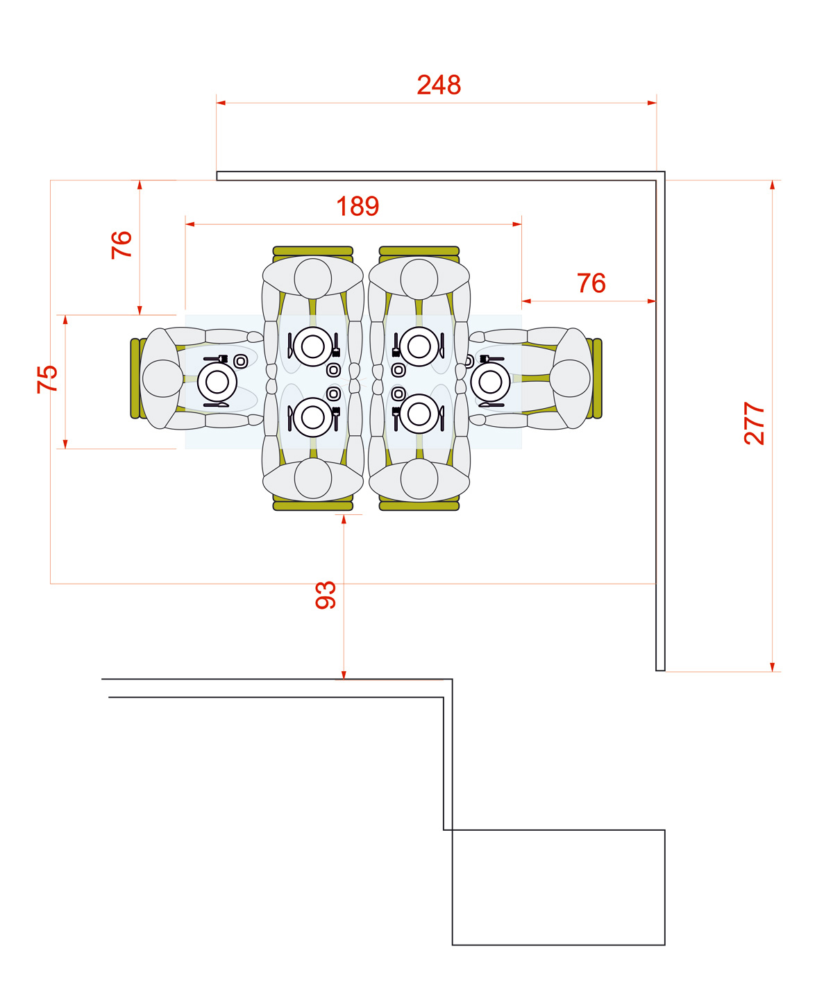 Circular or rectangular table? Measures for dining table for ...