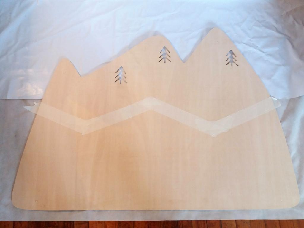 Decoración infantil Cabecero Montañas