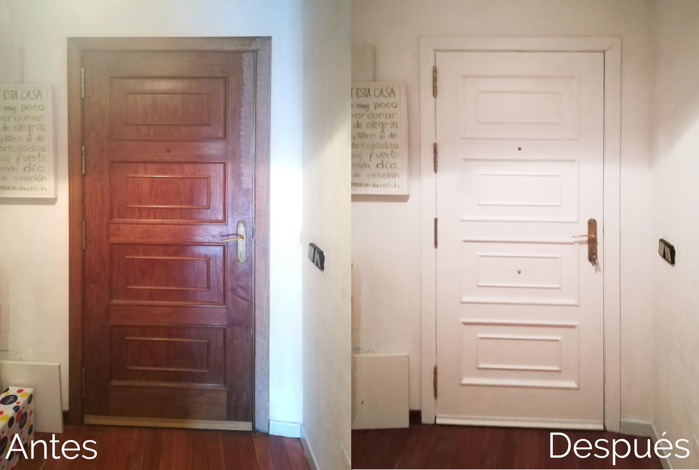 pintar una puerta acrílico o chalk paint